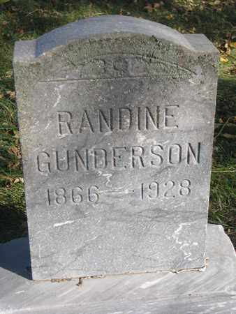 GUNDERSON, RANDINE - Union County, South Dakota   RANDINE GUNDERSON - South Dakota Gravestone Photos