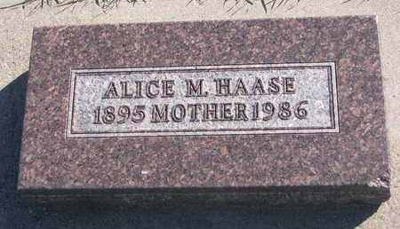 HAASE, ALICE M. - Union County, South Dakota | ALICE M. HAASE - South Dakota Gravestone Photos