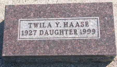 HAASE, TWILA Y. - Union County, South Dakota | TWILA Y. HAASE - South Dakota Gravestone Photos