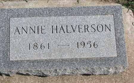 HALVERSON, ANNIE - Union County, South Dakota   ANNIE HALVERSON - South Dakota Gravestone Photos