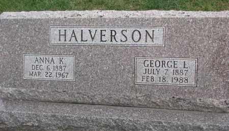 HALVERSON, GEORGE L. - Union County, South Dakota   GEORGE L. HALVERSON - South Dakota Gravestone Photos