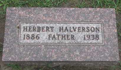 HALVERSON, HERBERT - Union County, South Dakota | HERBERT HALVERSON - South Dakota Gravestone Photos