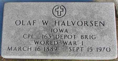 HALVORSEN, OLAF W. (WW I) - Union County, South Dakota | OLAF W. (WW I) HALVORSEN - South Dakota Gravestone Photos