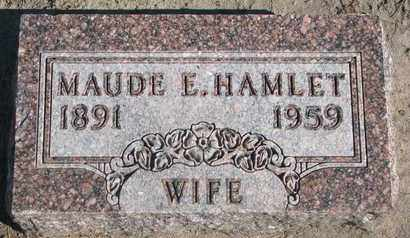 HAMLET, MAUDE E. - Union County, South Dakota | MAUDE E. HAMLET - South Dakota Gravestone Photos
