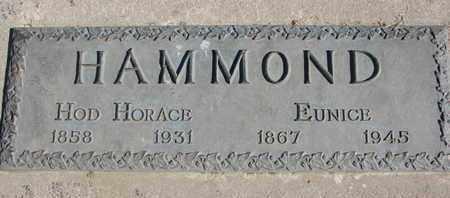 HAMMOND, HOD HORACE - Union County, South Dakota   HOD HORACE HAMMOND - South Dakota Gravestone Photos