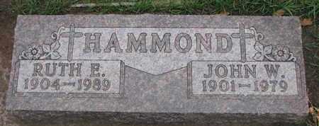 HAMMOND, JOHN W. - Union County, South Dakota   JOHN W. HAMMOND - South Dakota Gravestone Photos
