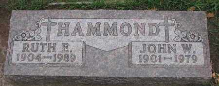 HAMMOND, RUTH E. - Union County, South Dakota | RUTH E. HAMMOND - South Dakota Gravestone Photos