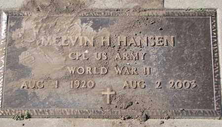 HANSEN, MELVIN H. (WW II) - Union County, South Dakota | MELVIN H. (WW II) HANSEN - South Dakota Gravestone Photos
