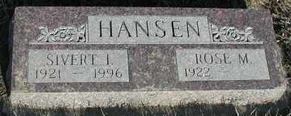 HANSEN, SIVERT I - Union County, South Dakota | SIVERT I HANSEN - South Dakota Gravestone Photos