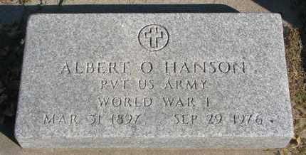 HANSON, ALBERT O. - Union County, South Dakota   ALBERT O. HANSON - South Dakota Gravestone Photos