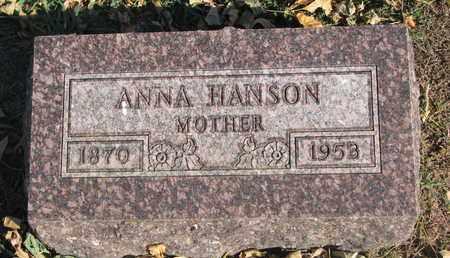 HANSON, ANNA - Union County, South Dakota | ANNA HANSON - South Dakota Gravestone Photos
