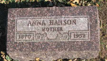 HANSON, ANNA - Union County, South Dakota | ANNA HANSON - South Dakota Gravestone Photos
