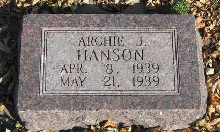 HANSON, ARCHIE J. - Union County, South Dakota | ARCHIE J. HANSON - South Dakota Gravestone Photos