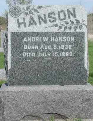 HANSON, ANDREW - Union County, South Dakota | ANDREW HANSON - South Dakota Gravestone Photos