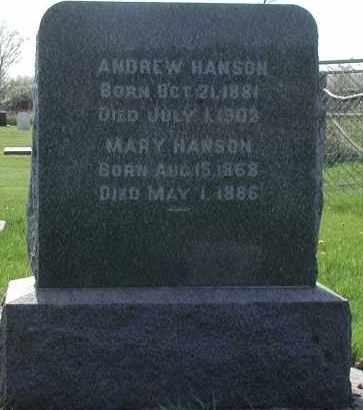 HANSON, MARY - Union County, South Dakota | MARY HANSON - South Dakota Gravestone Photos