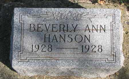 HANSON, BEVERLY ANN - Union County, South Dakota | BEVERLY ANN HANSON - South Dakota Gravestone Photos