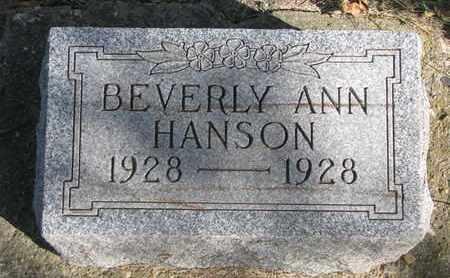 HANSON, BEVERLY ANN - Union County, South Dakota   BEVERLY ANN HANSON - South Dakota Gravestone Photos