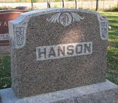 HANSON, FAMILY STONE - Union County, South Dakota   FAMILY STONE HANSON - South Dakota Gravestone Photos