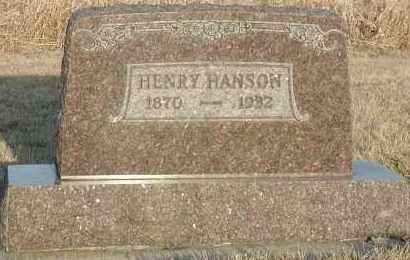 HANSON, HENRY #2 - Union County, South Dakota   HENRY #2 HANSON - South Dakota Gravestone Photos