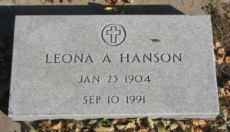 HANSON, LEONA A. - Union County, South Dakota | LEONA A. HANSON - South Dakota Gravestone Photos