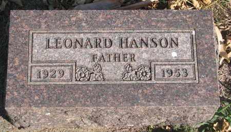 HANSON, LEONARD - Union County, South Dakota | LEONARD HANSON - South Dakota Gravestone Photos