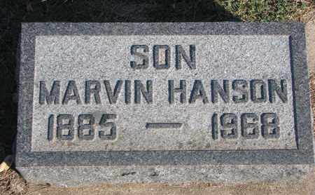 HANSON, MARVIN - Union County, South Dakota | MARVIN HANSON - South Dakota Gravestone Photos