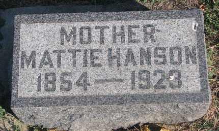 HANSON, MATTIE - Union County, South Dakota | MATTIE HANSON - South Dakota Gravestone Photos