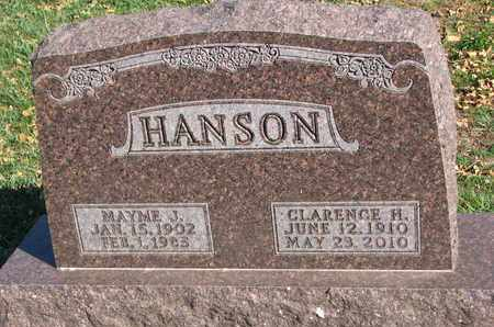 HANSON, CLARENCE H. - Union County, South Dakota | CLARENCE H. HANSON - South Dakota Gravestone Photos