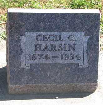 HARSIN, CECIL C. - Union County, South Dakota   CECIL C. HARSIN - South Dakota Gravestone Photos