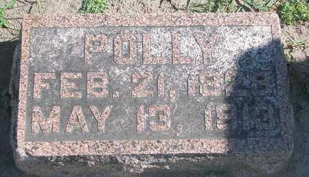 HARTER, POLLY (FOOTSTONE) - Union County, South Dakota | POLLY (FOOTSTONE) HARTER - South Dakota Gravestone Photos