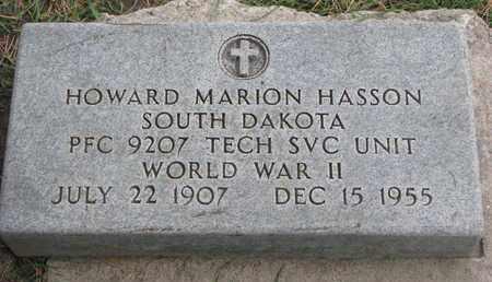 HASSON, HOWARD MARION (WORLD WAR II) - Union County, South Dakota | HOWARD MARION (WORLD WAR II) HASSON - South Dakota Gravestone Photos
