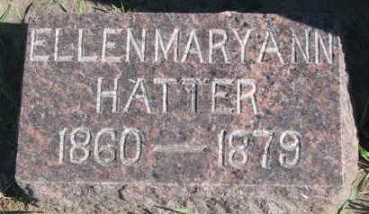 FISK HATTER, ELLEN MARY ANN - Union County, South Dakota   ELLEN MARY ANN FISK HATTER - South Dakota Gravestone Photos