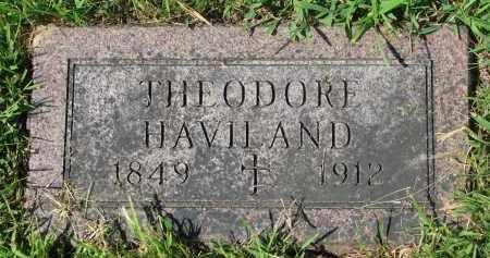 HAVILAND, THEODORE - Union County, South Dakota | THEODORE HAVILAND - South Dakota Gravestone Photos