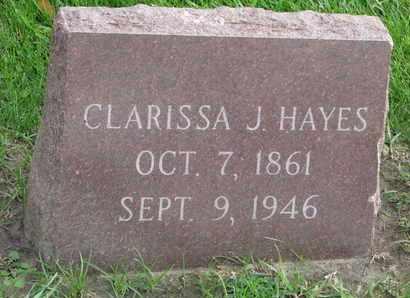 HAYES, CLARISSA J. - Union County, South Dakota | CLARISSA J. HAYES - South Dakota Gravestone Photos