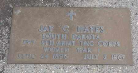 HAYES, JAY C. (WORLD WAR I) - Union County, South Dakota   JAY C. (WORLD WAR I) HAYES - South Dakota Gravestone Photos