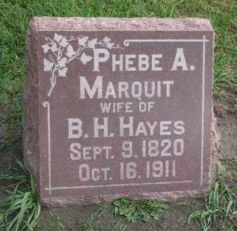 HAYES, PHEBE A. - Union County, South Dakota | PHEBE A. HAYES - South Dakota Gravestone Photos