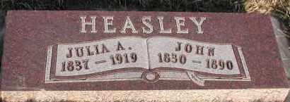 YOUNG HEASLEY, JULIA ANN - Union County, South Dakota | JULIA ANN YOUNG HEASLEY - South Dakota Gravestone Photos