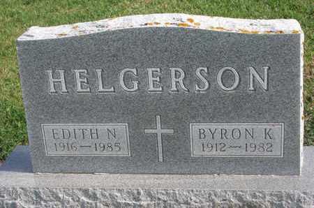 HELGERSON, EDITH N. - Union County, South Dakota | EDITH N. HELGERSON - South Dakota Gravestone Photos
