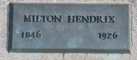 HENDRIX, MILTON - Union County, South Dakota   MILTON HENDRIX - South Dakota Gravestone Photos