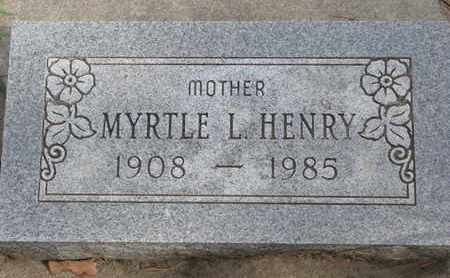 HENRY, MYRTLE L. - Union County, South Dakota | MYRTLE L. HENRY - South Dakota Gravestone Photos