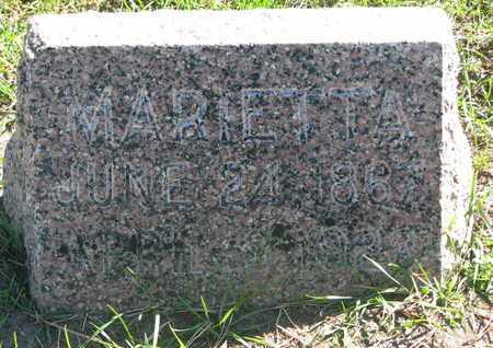 HODGES, MARIETTA - Union County, South Dakota | MARIETTA HODGES - South Dakota Gravestone Photos