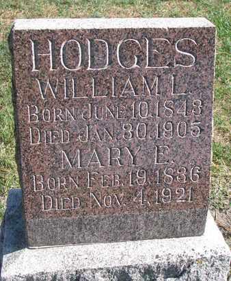 HODGES, WILLIAM L. - Union County, South Dakota   WILLIAM L. HODGES - South Dakota Gravestone Photos