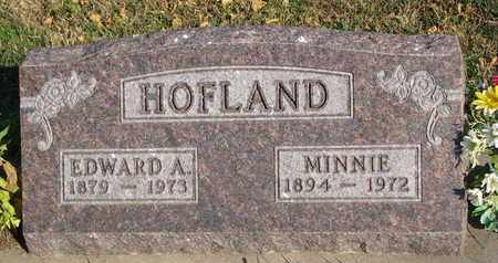HOFLAND, EDWARD A. - Union County, South Dakota | EDWARD A. HOFLAND - South Dakota Gravestone Photos