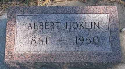 HOKLIN, ALBERT - Union County, South Dakota | ALBERT HOKLIN - South Dakota Gravestone Photos