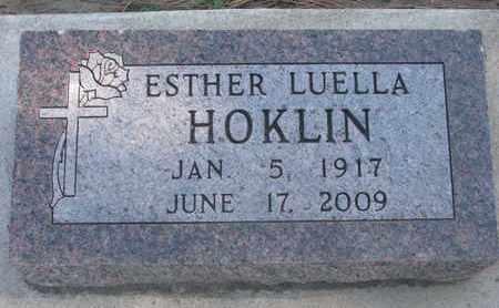 HOKLIN, ESTHER LUELLA - Union County, South Dakota | ESTHER LUELLA HOKLIN - South Dakota Gravestone Photos