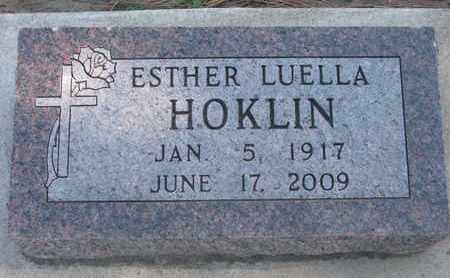 HOKLIN, ESTHER LUELLA - Union County, South Dakota | ESTHER LUELLA HOKLIN - South Dakota Gravestone Photos
