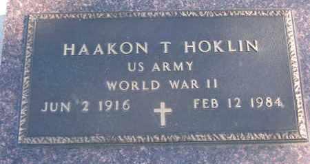 HOKLIN, HAAKON T. (WORLD WAR II) - Union County, South Dakota | HAAKON T. (WORLD WAR II) HOKLIN - South Dakota Gravestone Photos