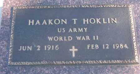 HOKLIN, HAAKON T. (WORLD WAR II) - Union County, South Dakota | HAAKON T. (WORLD WAR II) HOKLIN - South Dakota Gravestone Photos