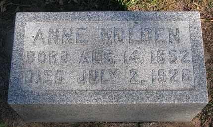 HOLDEN, ANNE - Union County, South Dakota | ANNE HOLDEN - South Dakota Gravestone Photos