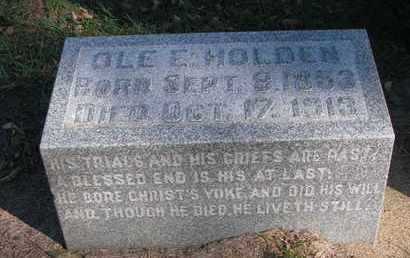 HOLDEN, OLE E. - Union County, South Dakota | OLE E. HOLDEN - South Dakota Gravestone Photos
